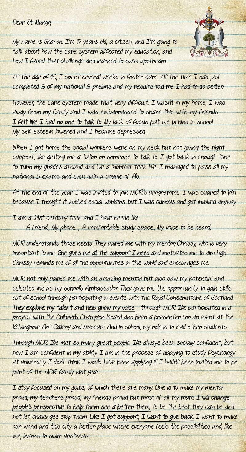 Sharon Letter