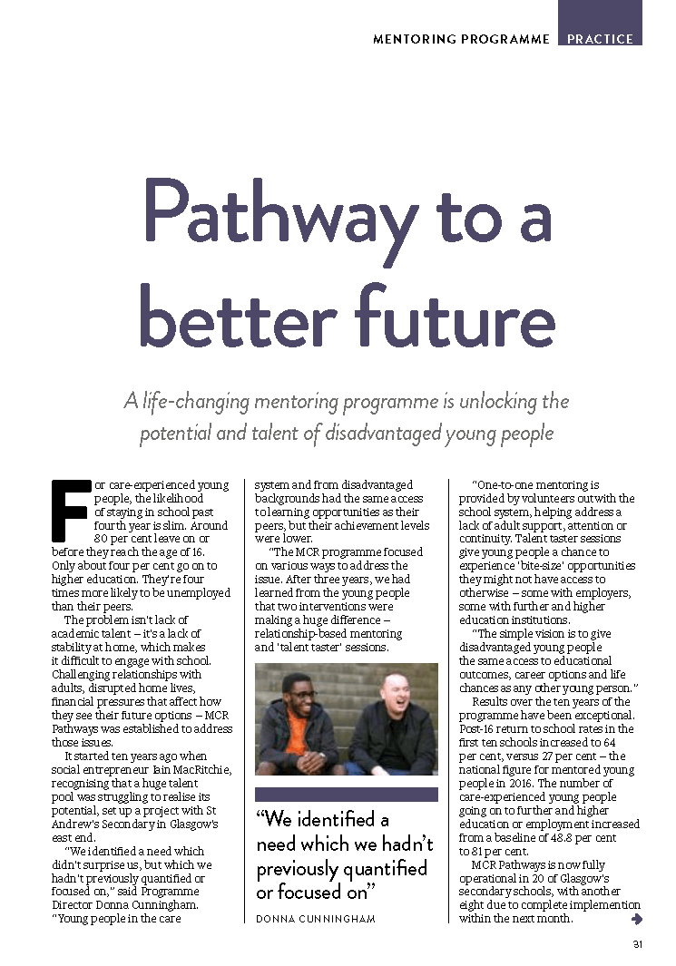 Teaching Scotland Article Page 1