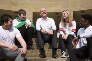 Picture Courtesy of MCR Pathways MCR Pathways is an organisation setup by founder Iain MacRitchie to support young people. Pictured are the MCR Pathways supported young people with founder Iain MacRitchie. Media Release - Embargoed until 2pm, April 18 2019 Young Scots host MCR Pathways National Conference - School-based mentoring programme continues to expand into new regions across Scotland Ð - Deputy First Minister, John Swinney to join Q&A Session - The award-winning mentoring charity, MCR Pathways, is hosting its second National Conference on Thursday April 18. The theme of the conference is Brave: Not Broken, and will explore young peopleÕs mental health and well-being. Young people will present the conference and lead attendees through a series of presentations, interviews and workshops, designed to consider the challenges facing todayÕs youth from their perspective. John Swinney MSP, will join a panel, including Fiona Duncan, chair of The Independent Care Review. Sir Harry Burns, Profession of Global Public Health, and Maureen McKenna, Education Chief, Glasgow City Council, to respond to questions from young people. The conference will be attended by over 400 guests, including policy makers, business people, politicians, educationists and mentors, who will hear how the MCR mentoring model is transforming lives throughout Scotland. Through mentoring MCR Pathways helps disadvantaged young people in or on the edges of the care system to realise their full potential. Founded in Glasgow in 2007, MCR Pathways currently operates in all Glasgow secondary schools as well as schools in Aberdeenshire, Aberdeen, Edinburgh, North Ayrshire, South Lanarkshire, and West Dunbartonshire. Speaking ahead of the National Conference, Deputy First Minister, John Swinney said: ÒThe MCR Pathways project provides crucial support for care experienced children and young people across Scotland and some of the results of the programme have been truly inspiring. ÒClosing the attainment gap