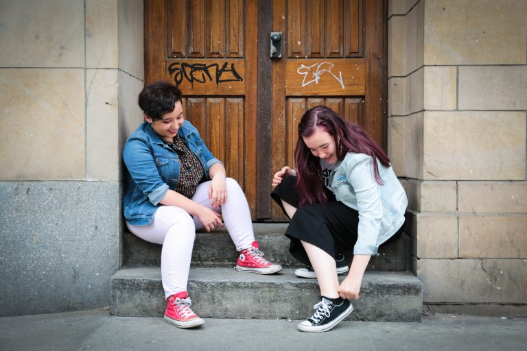 Lauren & Sinead - They bonded over having similar pasts, through their friendship and by the feeling that they belong to each other.